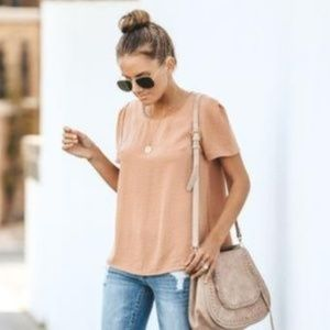 Vici Perfect Day Short Sleeve Blouse